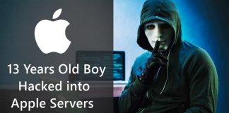 13 Year Old Boy Who Hacked into Apple Servers