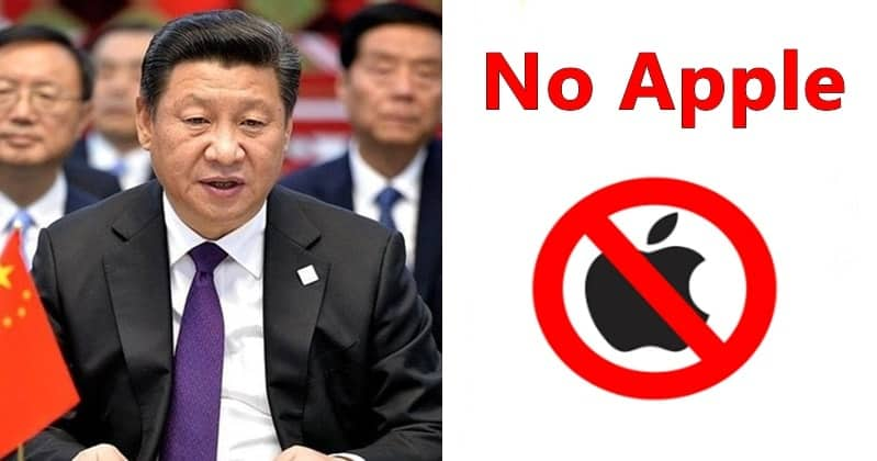 In Huawei war, Chinese government now bans Apple products in China