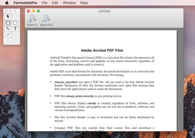 Formulate Pro - Best PDF editor for Mac