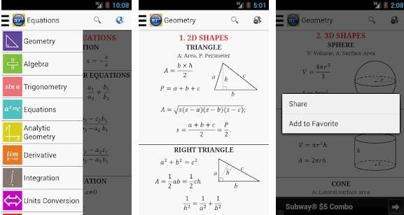 Maths Formula Free