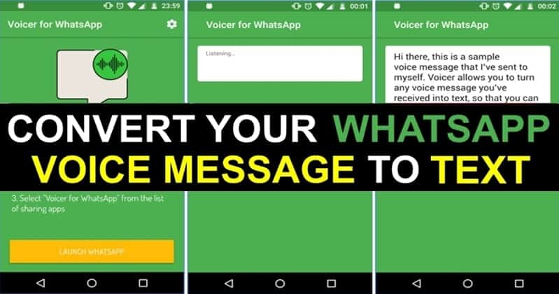 Convert WhatsApp Voice Messages to Text