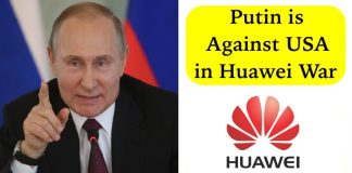 Putin is Against US for their Attempts to Push Huawei from Global Market