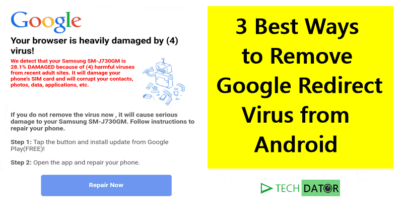 Remove Google Redirect Virus from Android