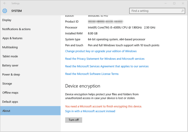 Windows 10 Encryption