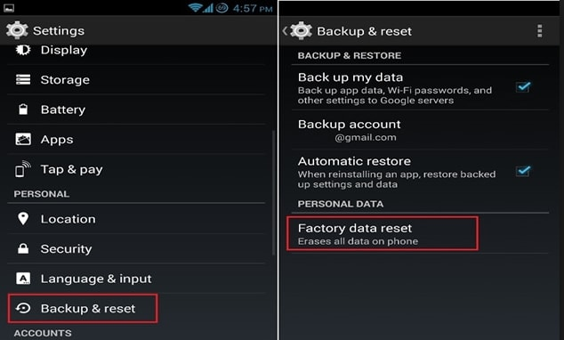 Steps For Resetting Your Android Device
