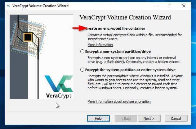 VeraCrypt program