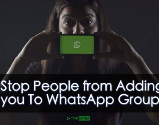 Stop People from Adding you To WhatsApp Groups