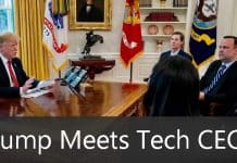 President Trump Met Tech CEOs To Discuss About Huawei War