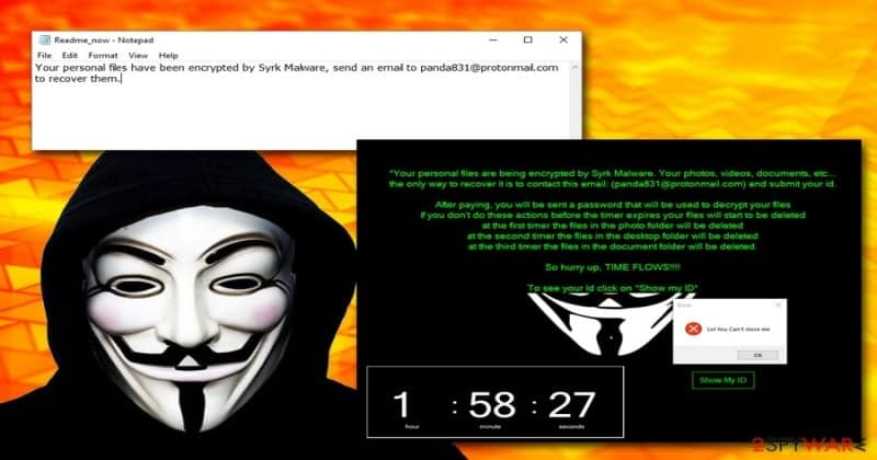 Syrk Ransomware Disguised as Hack Tool