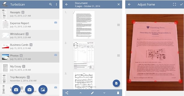 TurboScan scan documents receipts in PDF