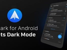 Spark Gets Dark Mode