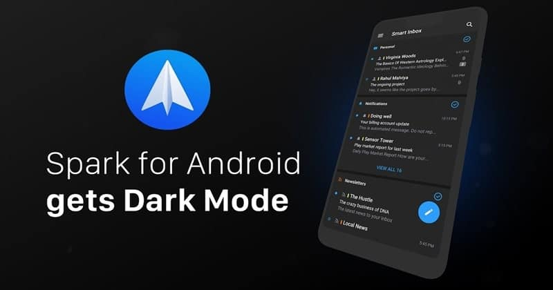 Spark Gets Dark Mode