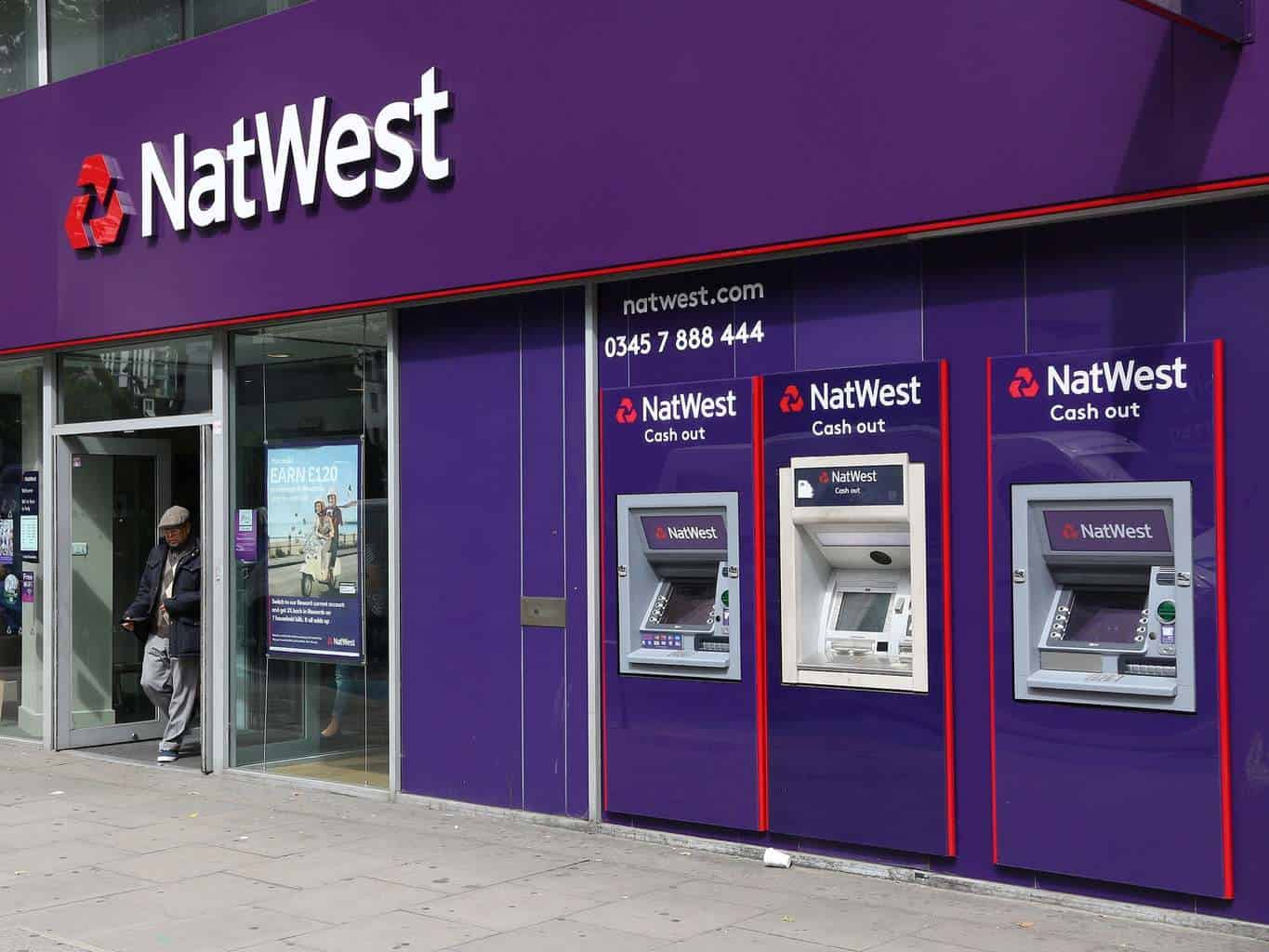 NatWest and RBS down