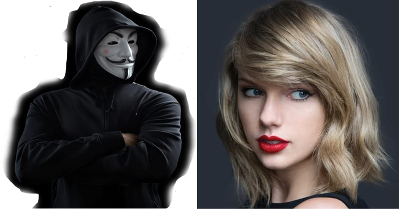 Cryptocurrency-mining botnet using an image of Taylor Swift