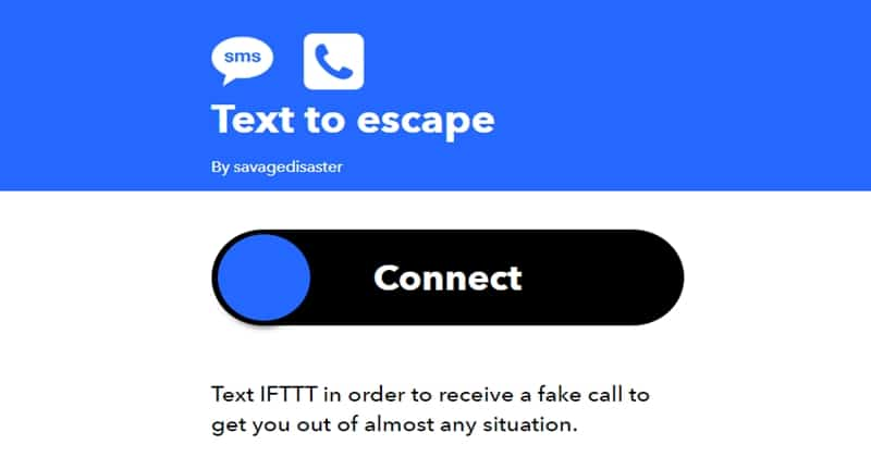 Text to Escape