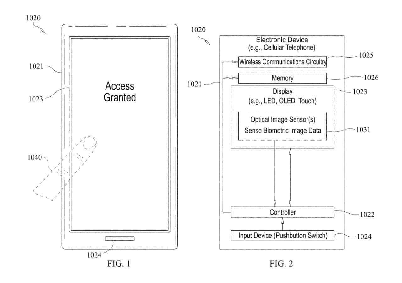 optical screen fingerprint