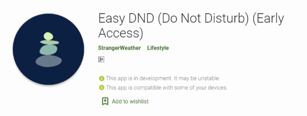 Easy DND (Do Not Disturb)