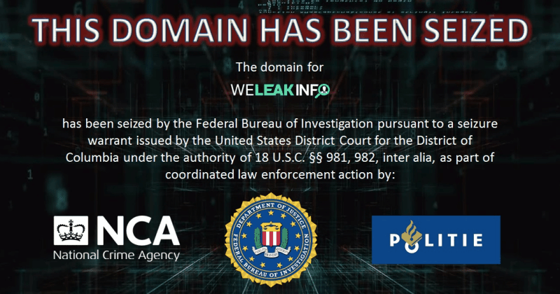 FBI Seized WeLeakInfo.com Domain For Illegally Selling Breached Data