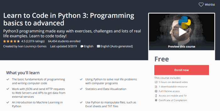 Learn To Code In Python 3