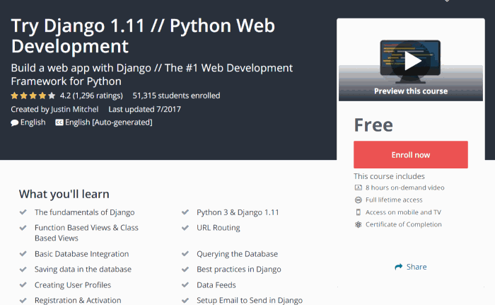 Try Django 1.11 // Python Web Development