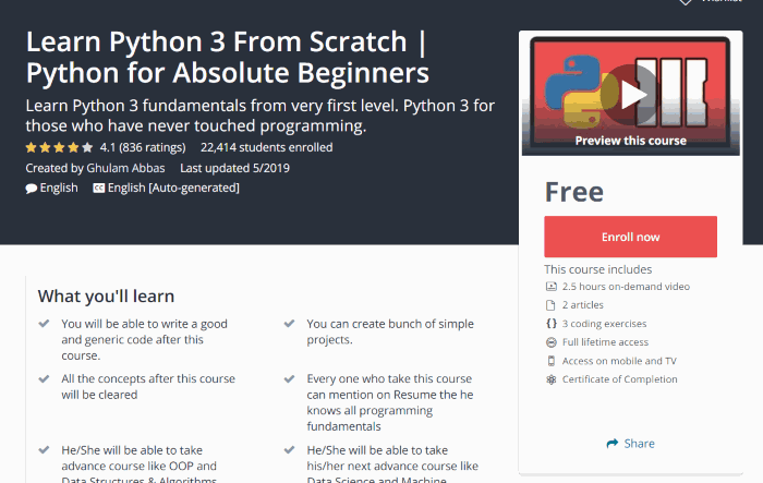 Learn Python 3 From Scratch| Python For Absolute Beginners