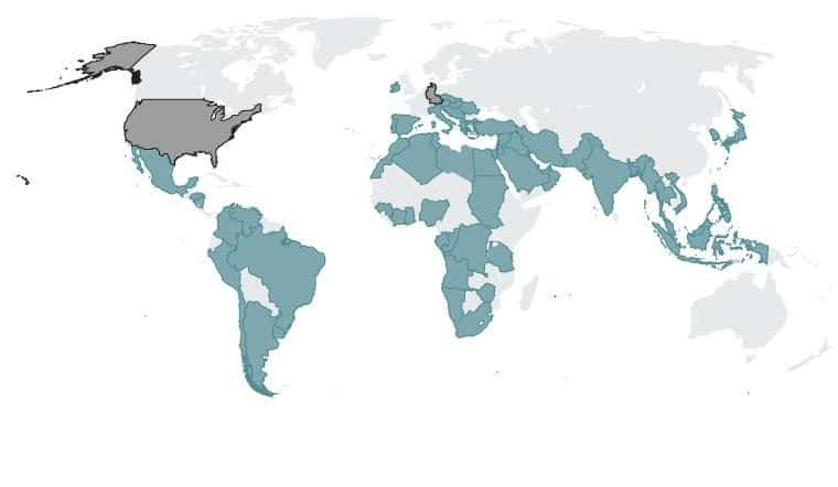 Countries that were being spied by the US and West Germany through Crypto AG