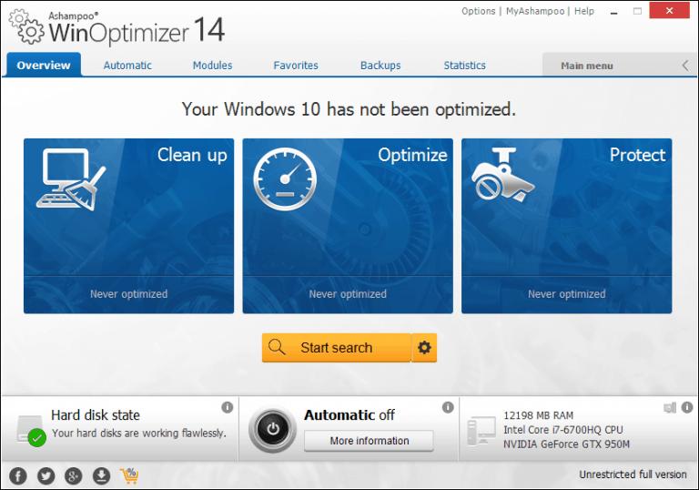 Ashampoo Win Optimizer Free
