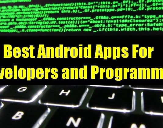 Best Android Apps For Developers and Programmers