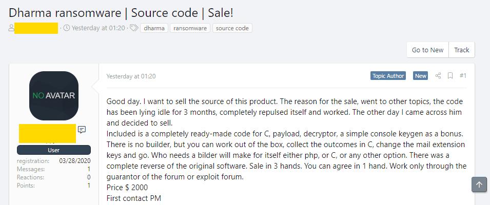 Dharma Source Code Sale