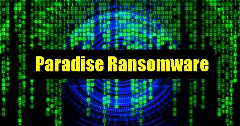 Paradise ransomware
