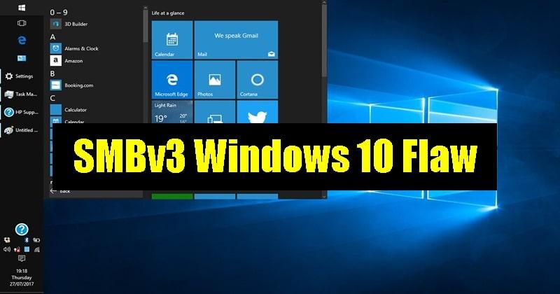 Microsoft Rolls a Windows 10 Update Patching the SMB Vulnerability