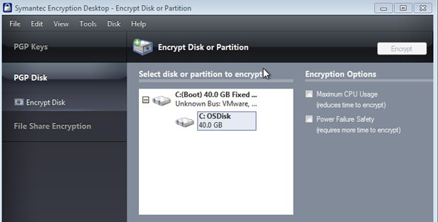 Symantec Drive Encryption