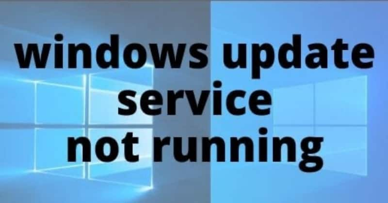 Windows Update Service Not Running On Windows 10