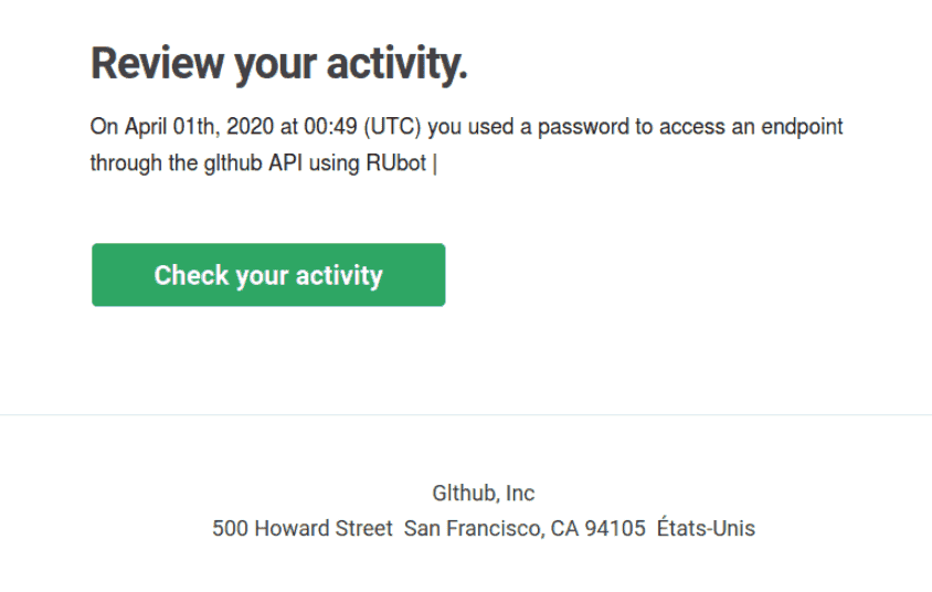 A Phishing Email