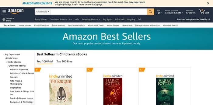 Amazon's Free Kids Ebooks