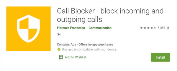 Call Blocker - block incoming and outgoing calls