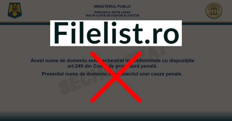 Romanian Authorities Seized Filelist.ro BitTorrent Private Tracker