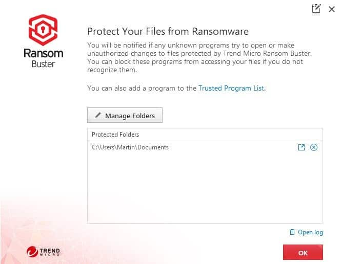 Trend Micro Ransom Buster