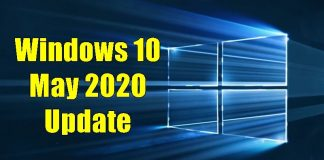 Windows 10 May Update 2020