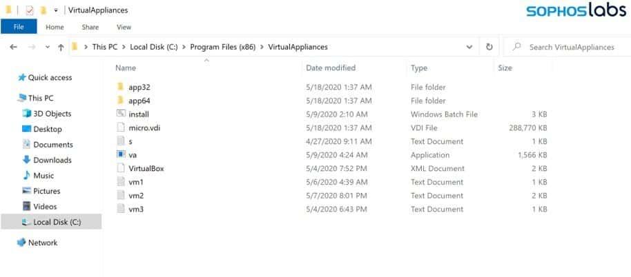 Installed VirtualBox in Program Files of C: disk.