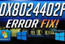 Fix Error code 0x8024402F in Windows 10