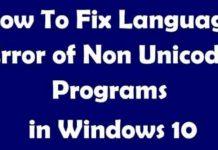 Fix Language Issues For Non-Unicode Program