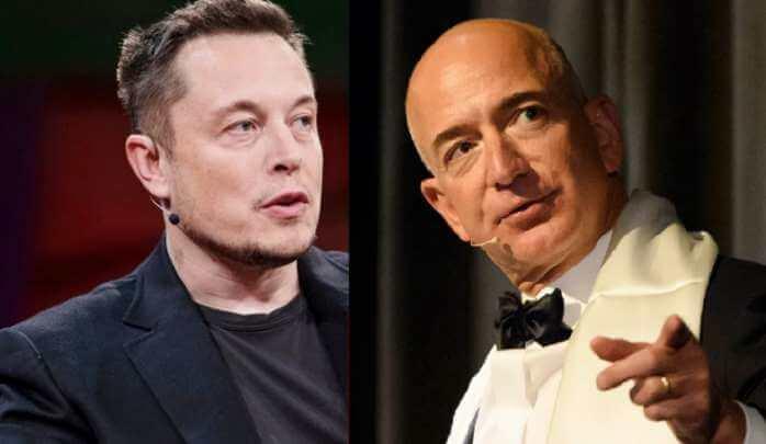 Tesla CEO Elon Musk calls Jeff Bezos a copycat