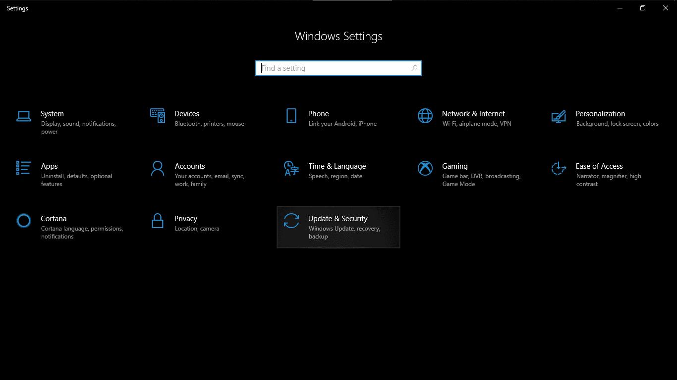 Change Windows Update Settings