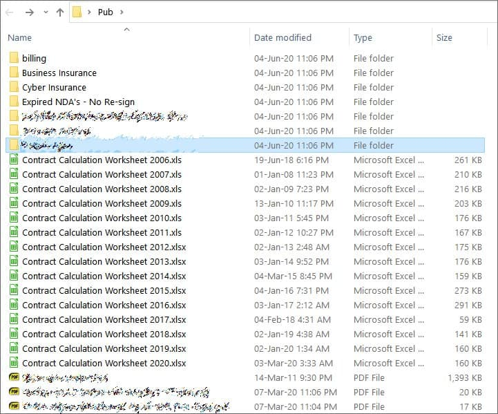 Leaked files