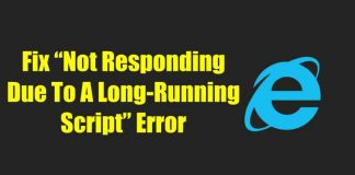 """How To Fix """"Not Responding Due To A Long-Running Script"""" Error on IE11"""