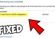 How To Fix Wi-Fi Doesn't Have Valid IP Configuration Error