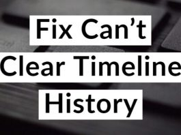 Can't Clear Timeline History in Windows 10