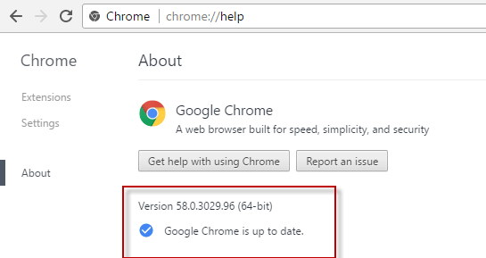 Update the Chrome Browser