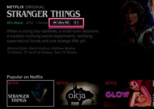 Netflix content in 4K UHD